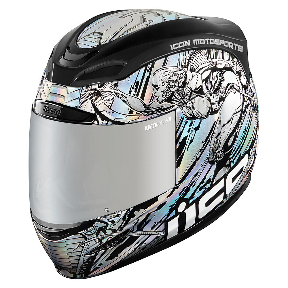 Casco Icon Airmada Mechanica - Silver