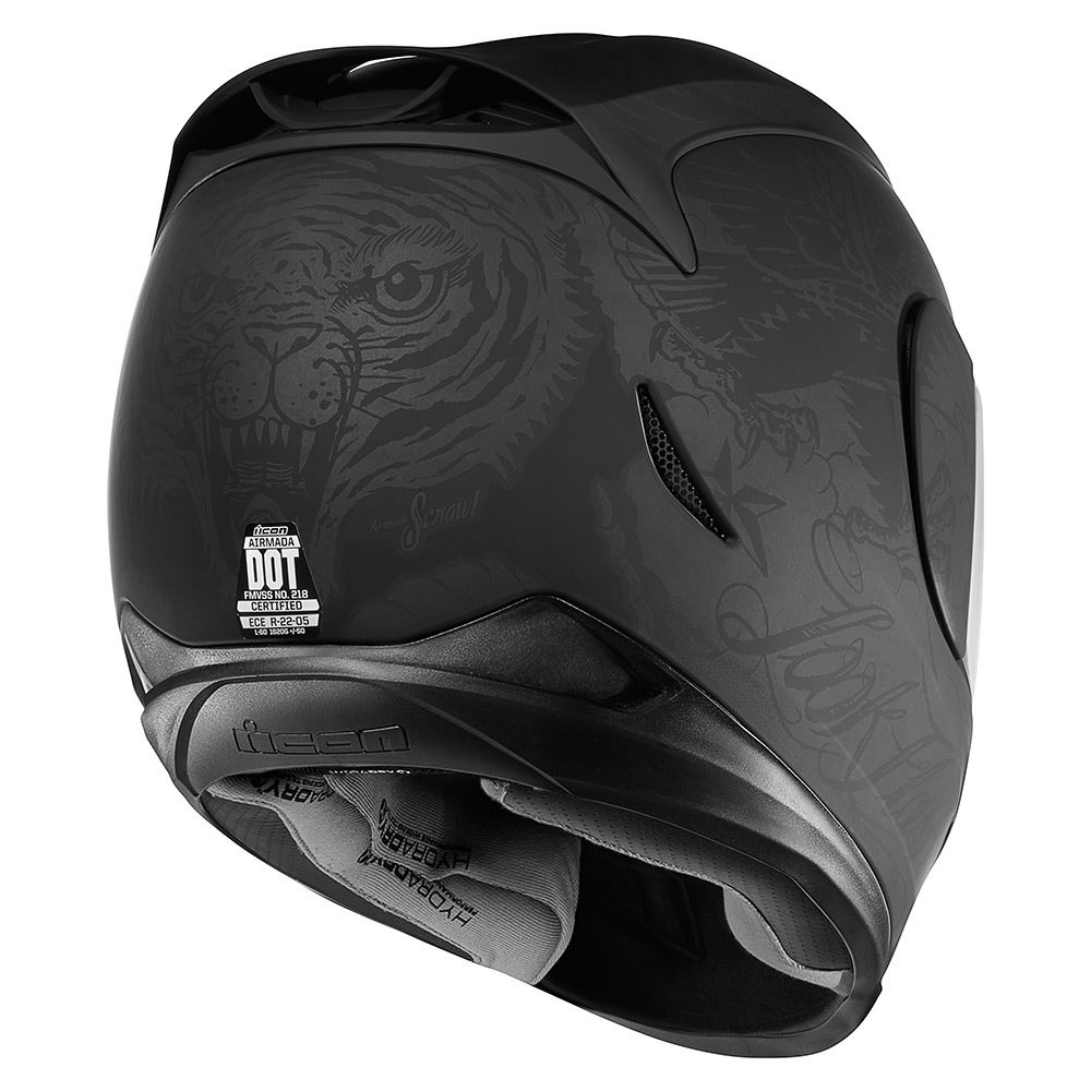 Casco Integral ICON AIRMADA Scrawl Black