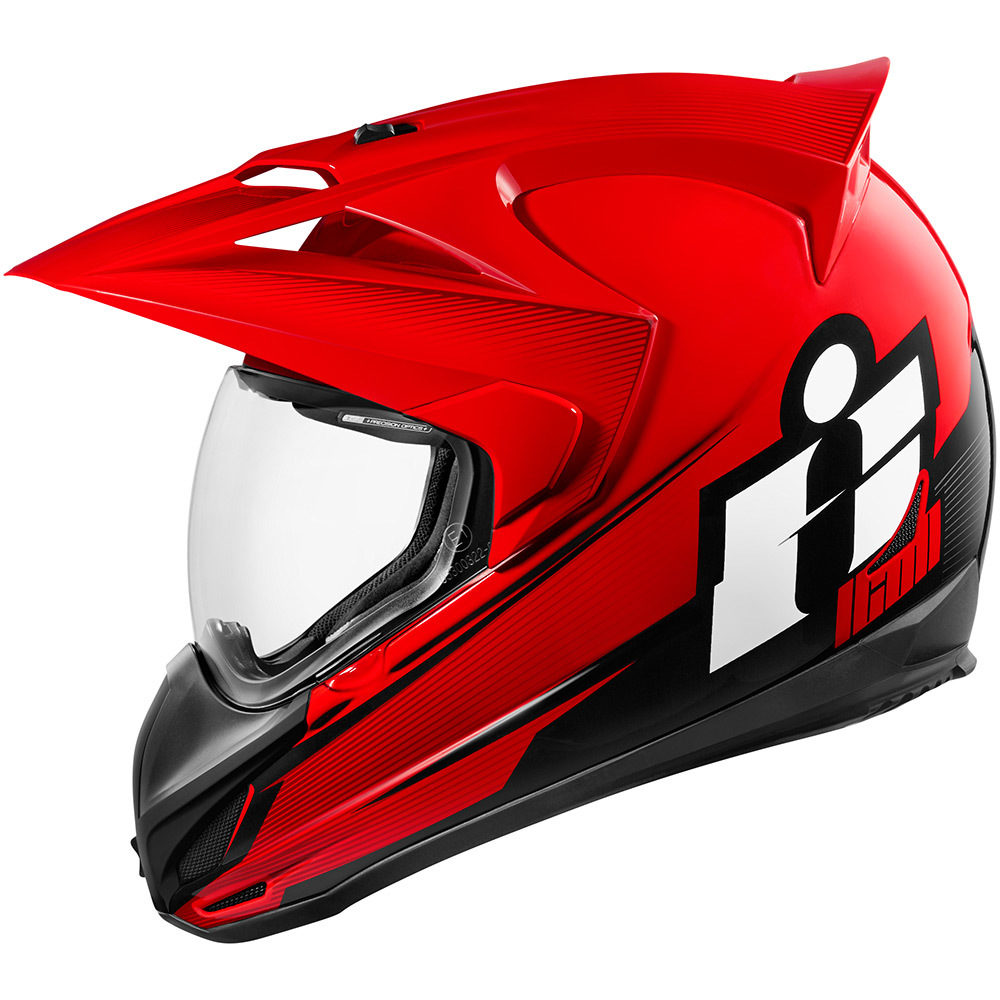 Casco Multiproposito ICON VARIANT Double Stack Red