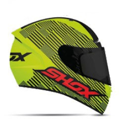 Casco SHOX ST HIT Amarillo Neon