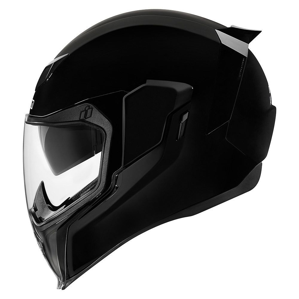 CASCO INTEGRAL ICON AIRFLITE NEGRO BRILLANTE