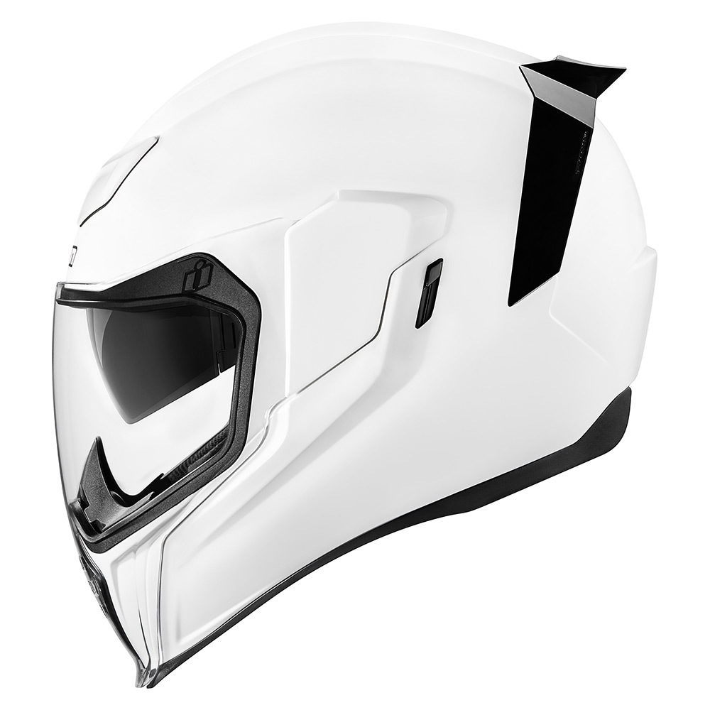CASCO INTEGRAL ICON AIRFLITE BLANCO BRILLANTE