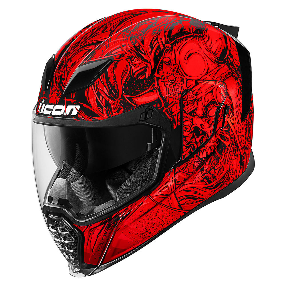 CASCO INTEGRAL ICON AIRFLITE KROM ROJO