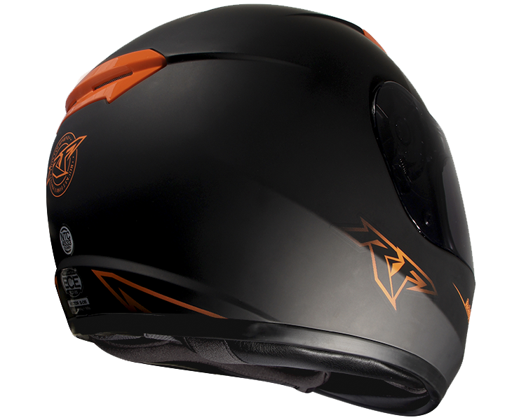 Casco Integral Rocket Force S-06 Vector Naranja -  Adrian Store