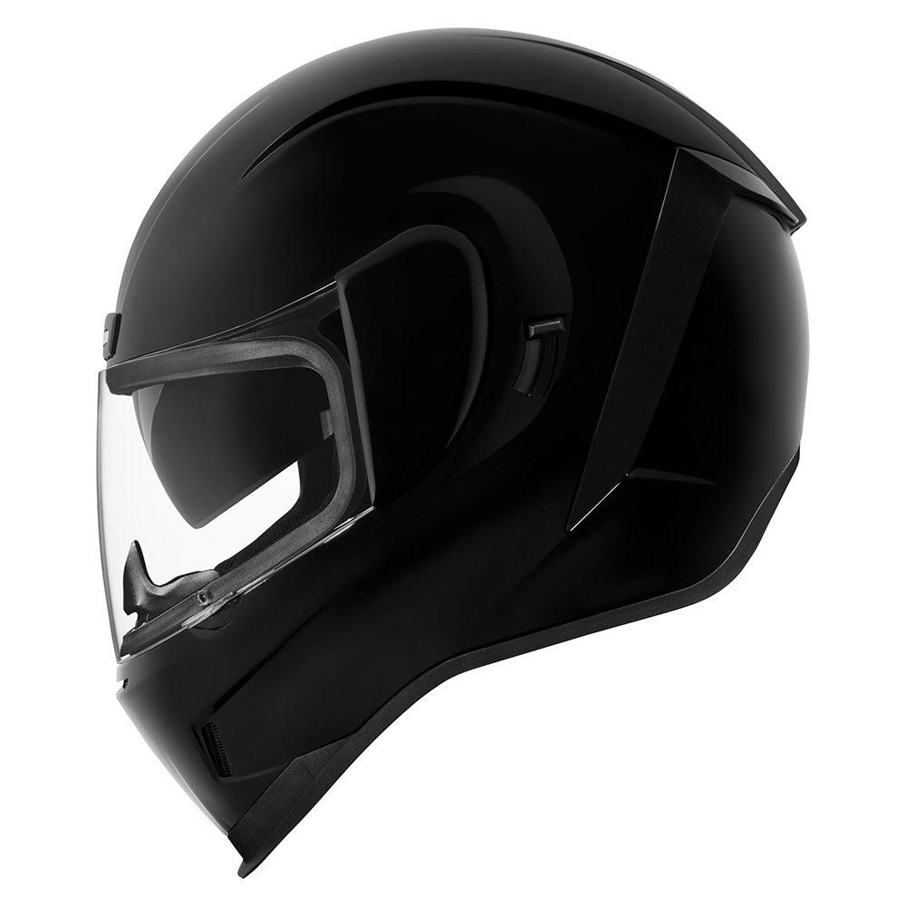 Casco Icon Airform Negro Brillo