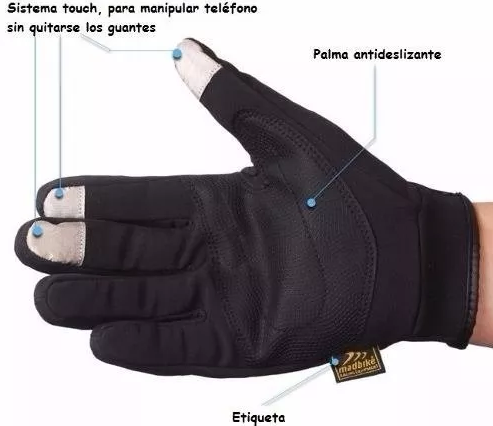 Guantes Moto City Semi Impermeables Tactil Protección - Adrian Store
