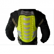 chaleco moto tipo armadura reflectiva acme