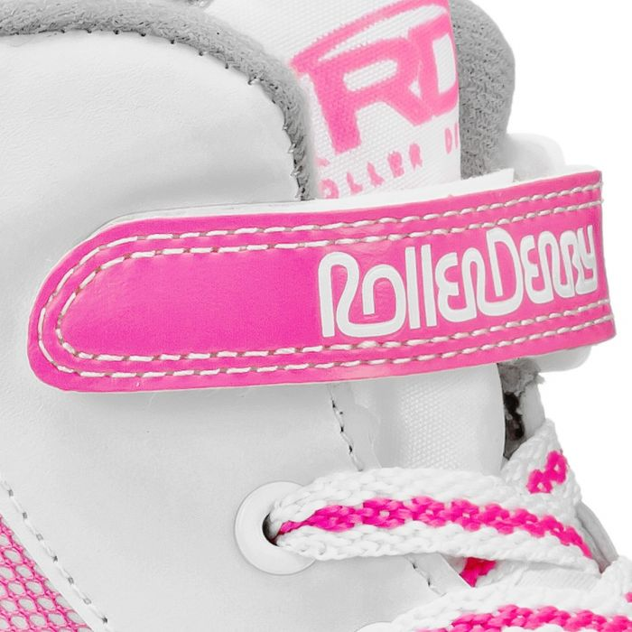 PATINES ROLLER DERBY FIRESTAR GIRLS WHITE-PINK