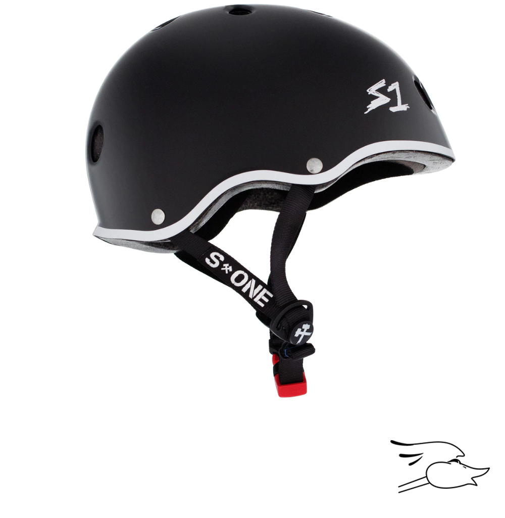 CASCO S-ONE MINI LIFER BLACK MATTE-WHITE OULINE GAVO COLLAB
