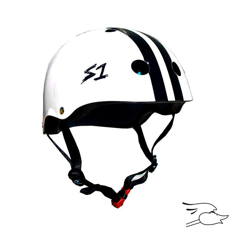 CASCO S-ONE MINI LIFER WHITE-BLACK STRIPE