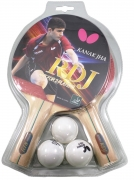 combo butterfly ping pong rdj 2 player set