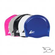 gorro leader medley racer long hair pink