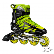 patines roller derby aerio q80x black-yellow