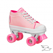 patines roller derby zinger girls pink-white
