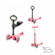 SCOOTER MICRO 3 IN 1 DELUXE PINK