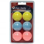 bolas mk ping pong fun x 6