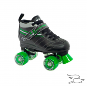 patines roller derby laser 7.9 boys black-green