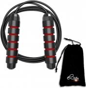 cuerda de salto life negro-rojo