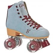 patines roller derby candi carlin blue-burgundy