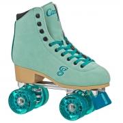 patines roller derby candi carlin green-blue