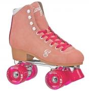 patines roller derby candi carlin peach-pink