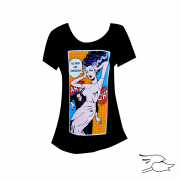 camiseta lowbrow womens all men are saveges dolman scoop