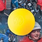 bola mylec hockey cold weather yellow