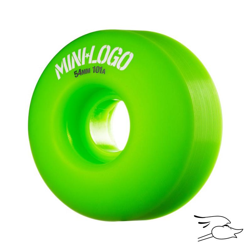 RUEDAS MINI LOGO C-CUT 54X101 GREEN 4PK