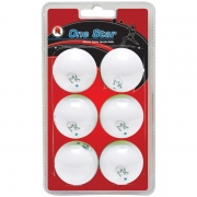 bolas mk ping pong 1-star 40mm white x 6