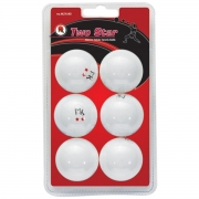 bolas mk ping pong 2 star 40mm white x 6