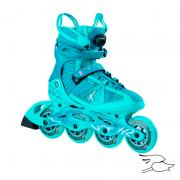 patines k2 vo2 90 boa blue-seafoam