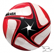 balon mikasa futbol flight #4 red-white-black