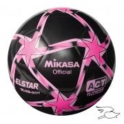 balon mikasa futbol elstar #4 black-pink