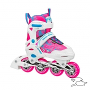 patines roller derby ion 7.2 girls white-pink