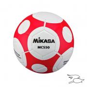 balon mikasa futbol mcs #5 white-red mcs50-wr
