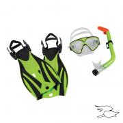 combo leader montego bay super kit jr. lime-green-black
