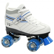 patines roller derby laser 7.9 girls white-blue