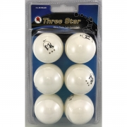 bolas mk ping pong 3 star 40mm white x 6