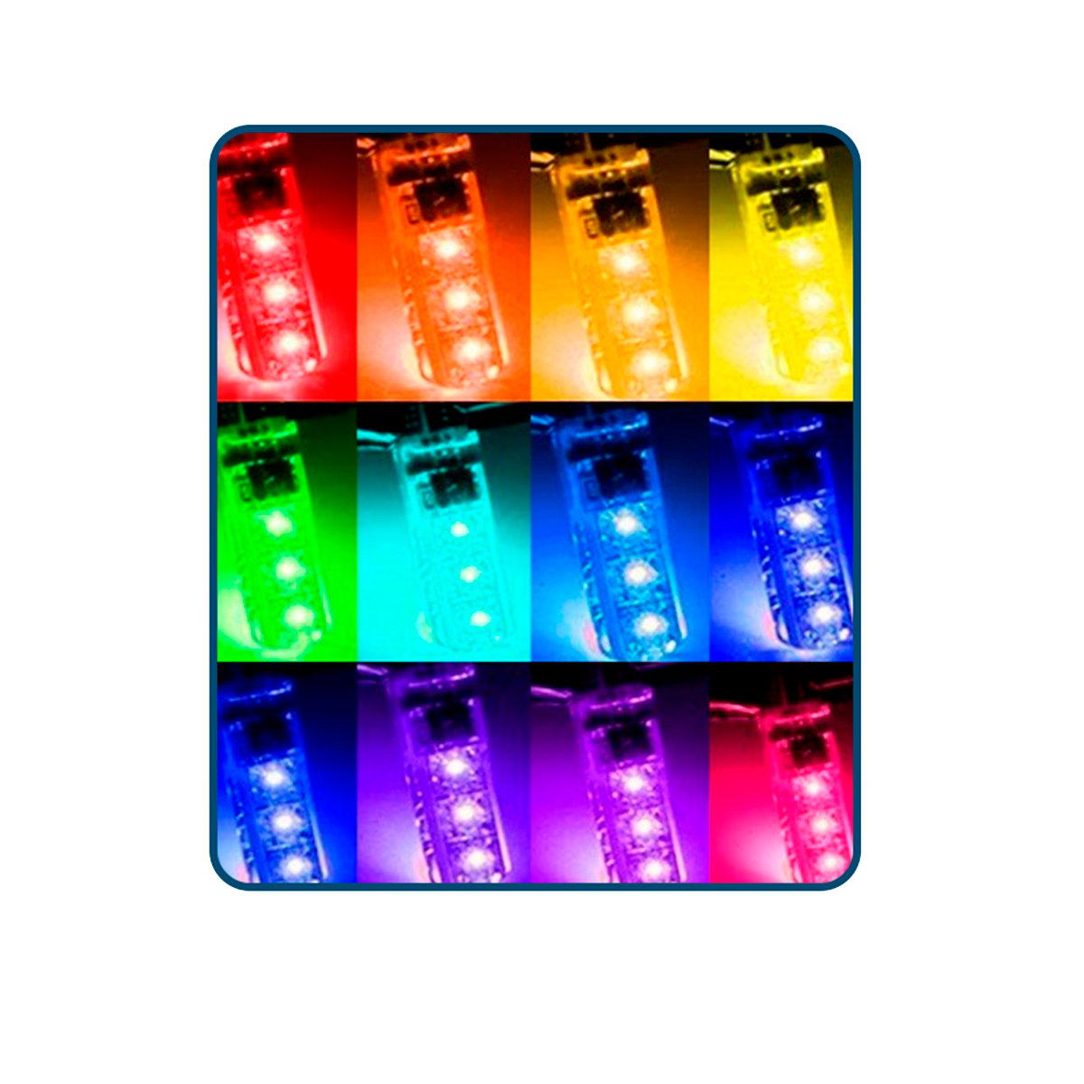 Bombillos LED T10 Colores - Car Tuning