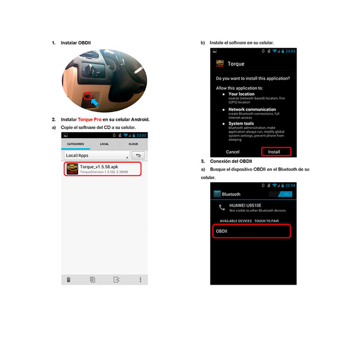 Escáner OBDII Bluetooth Mini - Diagnostico automotriz