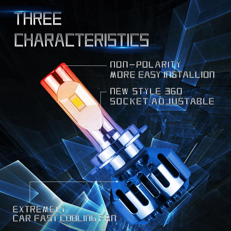 Luces Led H11 de 8.000 Lumens - Cambio de luces