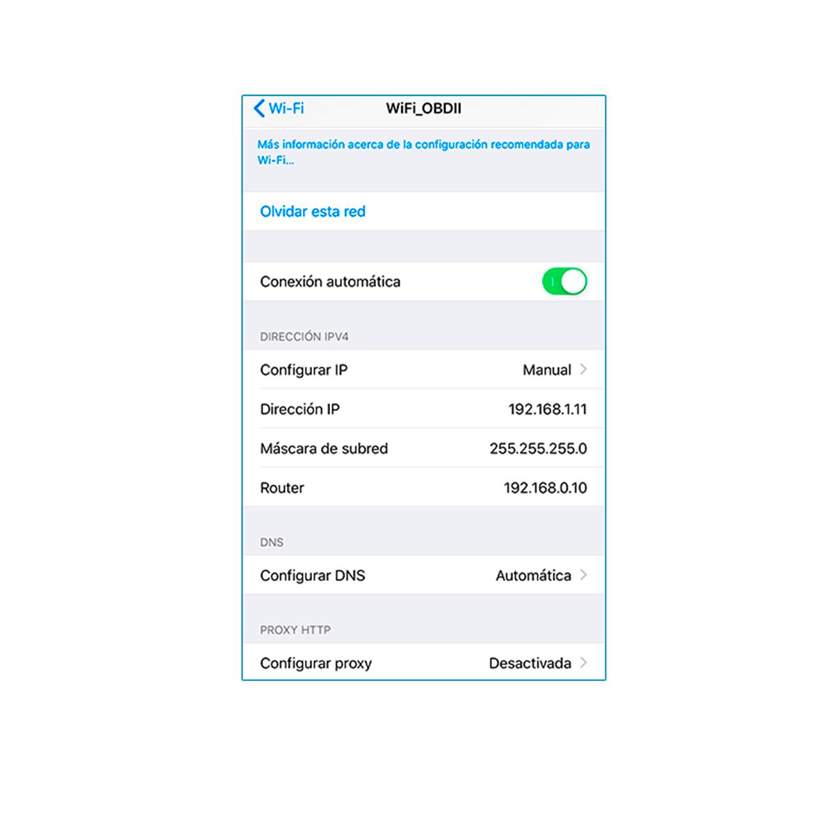 Escáner OBDII WiFi - Diagnóstico automotriz