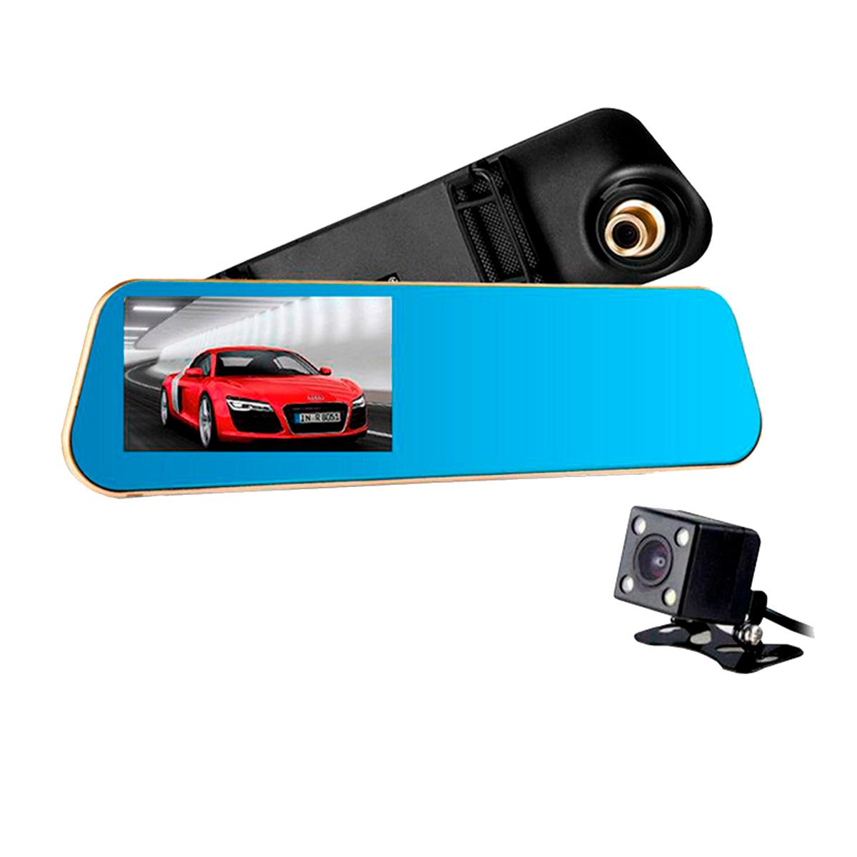 Espejo DVR con pantalla y doble cámara