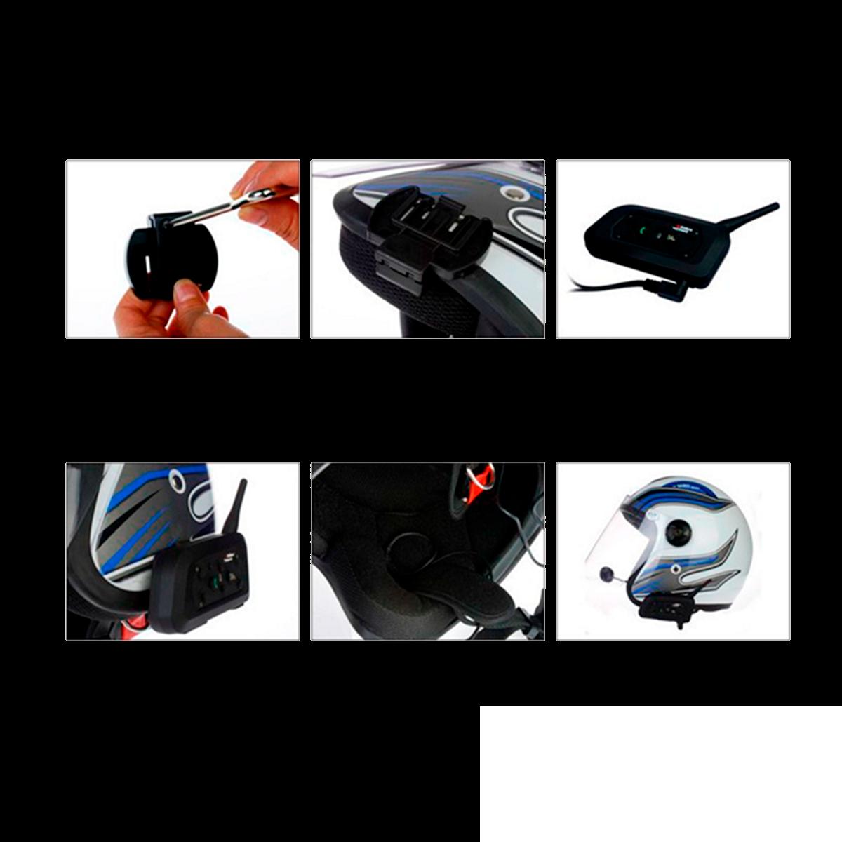 Intercomunicador Bluetooth V6-1200 x2 - Manos libres para moto